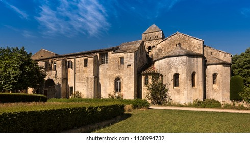 The monastery at St Paul de Mausole in St Remy de Provence. Buches du Rhone, Provence, France.