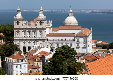 Monastery of St. Vincent Outside the Walls in Lisbon, Portugal, founded around 1147 by the first Portuguese King, Afonso Henriques, finished in the 18th century.