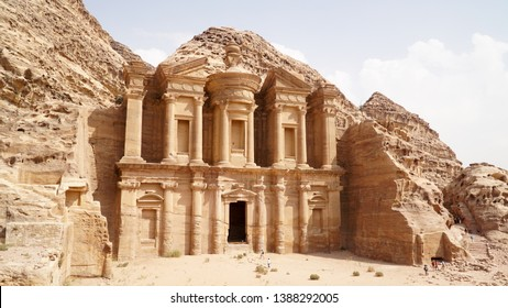 The Monastery Temple of the Nabataean Kingdom in Petra, Jordan.
