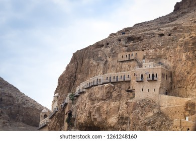The Monastery of Temptation is a Greek Orthodox monastery located in Jericho, Palestine (another name is the monastery Quarantal). Located on the slopes of Mount Temptation, Israel.