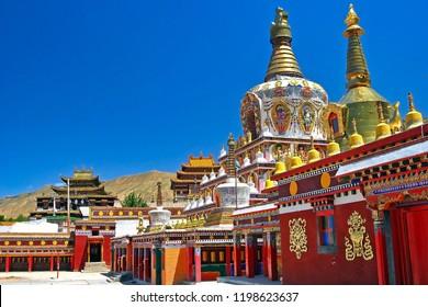 Monastery in Tongren, Rebkong Monastery, Qinghai Province, Tibet, China