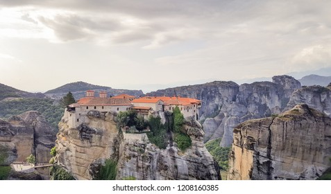The Monastery of Varlaam - Varlaam monastery at Meteora in Trikala, Kastraki, Kalambaka, Thessaly, Greece