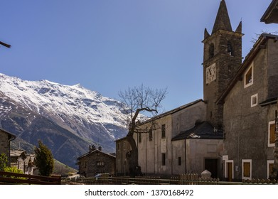 Moncenisio, Piedmont, Italy - May 4, 2014: Moncenisio is located about 60 kilometres west of Turin, on the border with France. It is the smaller village in Piedmont.