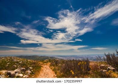 Monchique village, Algarve viewpoint of the Foia