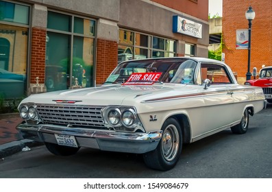 Moncton, New Brunswick, Canada - July 11, 2014: 1962 Chevrolet Impala parked in downtown Moncton during 2014 Atlantic Nationals Automotive Extravaganza.