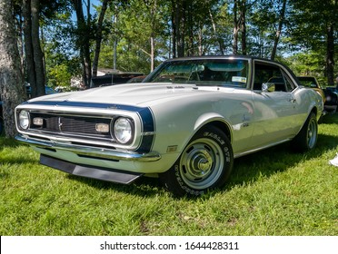 Moncton, New Brunswick, Canada - July 11, 2009:  1968 Chevy Camaro SS at  Atlantic Nationals Automotive  Extravaganza in Centennial Park.
