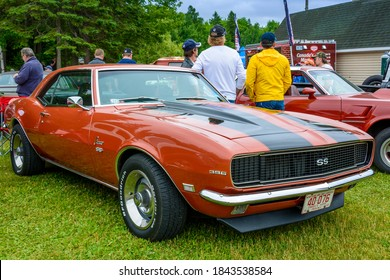 Moncton, New Brunswick, Canada - July 9, 2016 : 1968 Chevrolet Camaro SS 396 parked in Centennial Park during 2016 Atlantic Nationals.