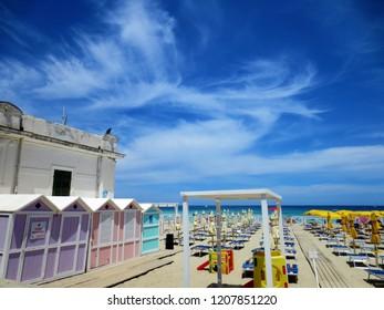 Mondello's beach near Palermo, Italy