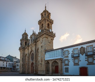 Mondonedo (Mondoñedo) cathedral , on the way of St. James, Lugo, Galicia, Spain