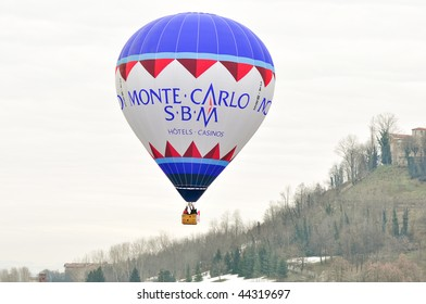 MONDOVI, CN - JANUARY 5:  Team of Monte Carlo during the 22nd edition of the international Epiphany balloon meeting, January 5, 2010 in Mondovi (CN), Italy.