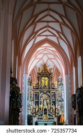 MONDSEE  UPPER AUSTRIA/AUSTRIA - SEPTEMBER 15 : Interior View of The Collegiate Church of St Michael in Mondsee in Austria on September 15, 2017