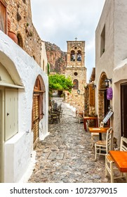Monemvasia, Greece - June 3, 2017, Monemvasia municipality in Laconia.
