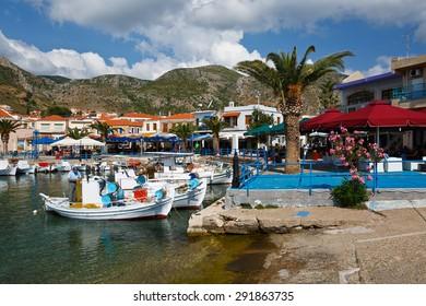 MONEMVASIA, GREECE - MAY 30 2015: Monemvasia village in Peloponnese, Greece on May 30 2015.