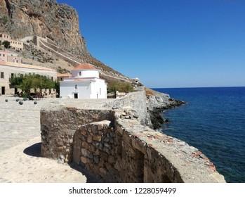 Monemvasia, Rock City in Peloponnese, Greece