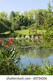 Monets garden and lily ponds Giverny France