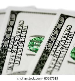 Money. 100 dollar bills.