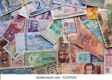 money from all over the world