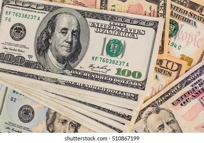 Money American dollar bills