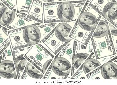 Money american hundred dollar bills. USD background