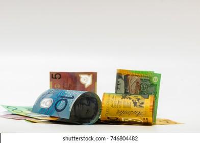 money, australian dollar (AUD) banknotes