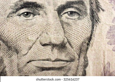 Money background - American dollars. Portrait of Lin?oln.