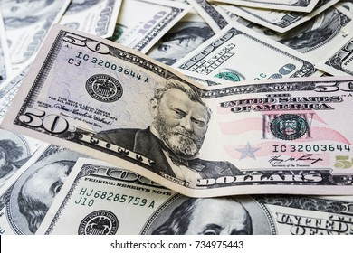 Money background. A lot of cash. Banner of money. US Dollars.