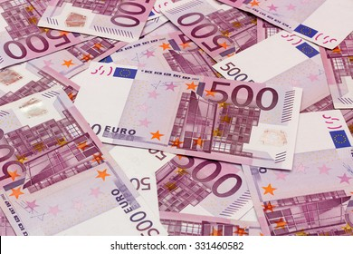 Money background - Five hundred (500) euro bills banknotes