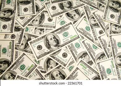 Money background - hundred american dollars