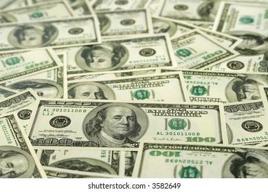 Money background - hundred dollars greenback