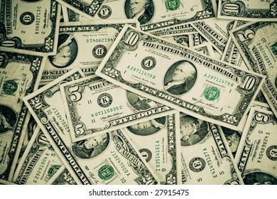 Money background - US dollars background