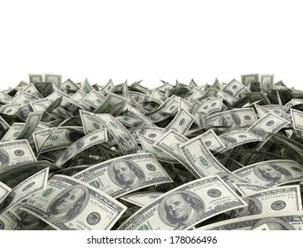 Money background with white copy space area