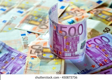 Money background.Euro currency.