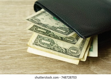 money bag on table