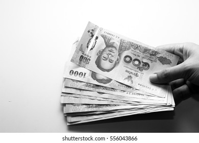 Money / The baht is the currency of Thailand.
