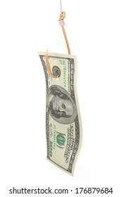money as bait concept