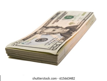 Money; Banknotes isolated on white background