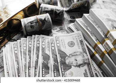 Money Black & White Stock Photo