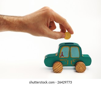Money box - car (green color)