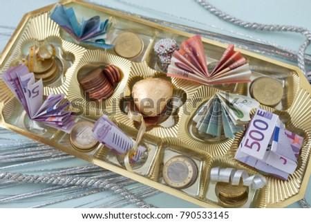 Money Chocolate Box Gift Idea Stock Photo Edit Now 790533145