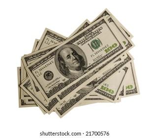money, clipping path