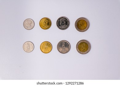 Money coin baht with white background