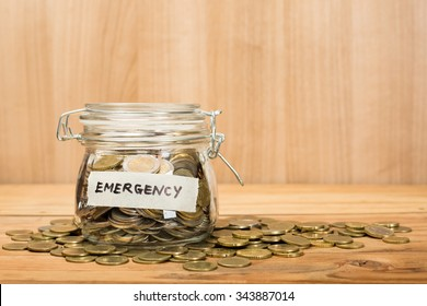 Money coin deposit of Emergency for prepare in the future.