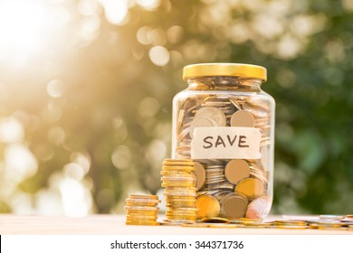 Money coin deposit of save money for prepare in the future.