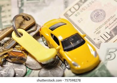 Money Coins Car Keys Apartment Debt Stock Photo Edit Now 757598176