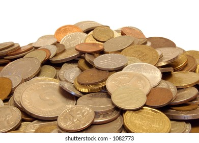Money coins from many different countries