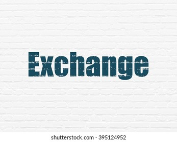 Money concept: Exchange on wall background