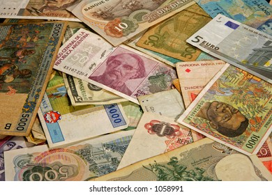 Money from different countries