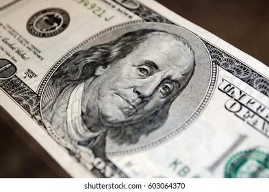 Money dollar portrait background
