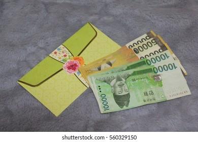 Money in envelope : Korean currency