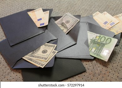 money in envelopes